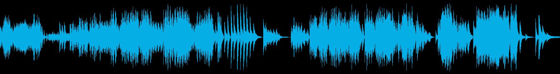 踊り子の成長物語を表現したピアノ曲の再生済みの波形