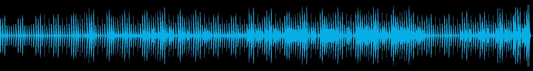 のんびりまったりとした気楽な楽曲の再生済みの波形