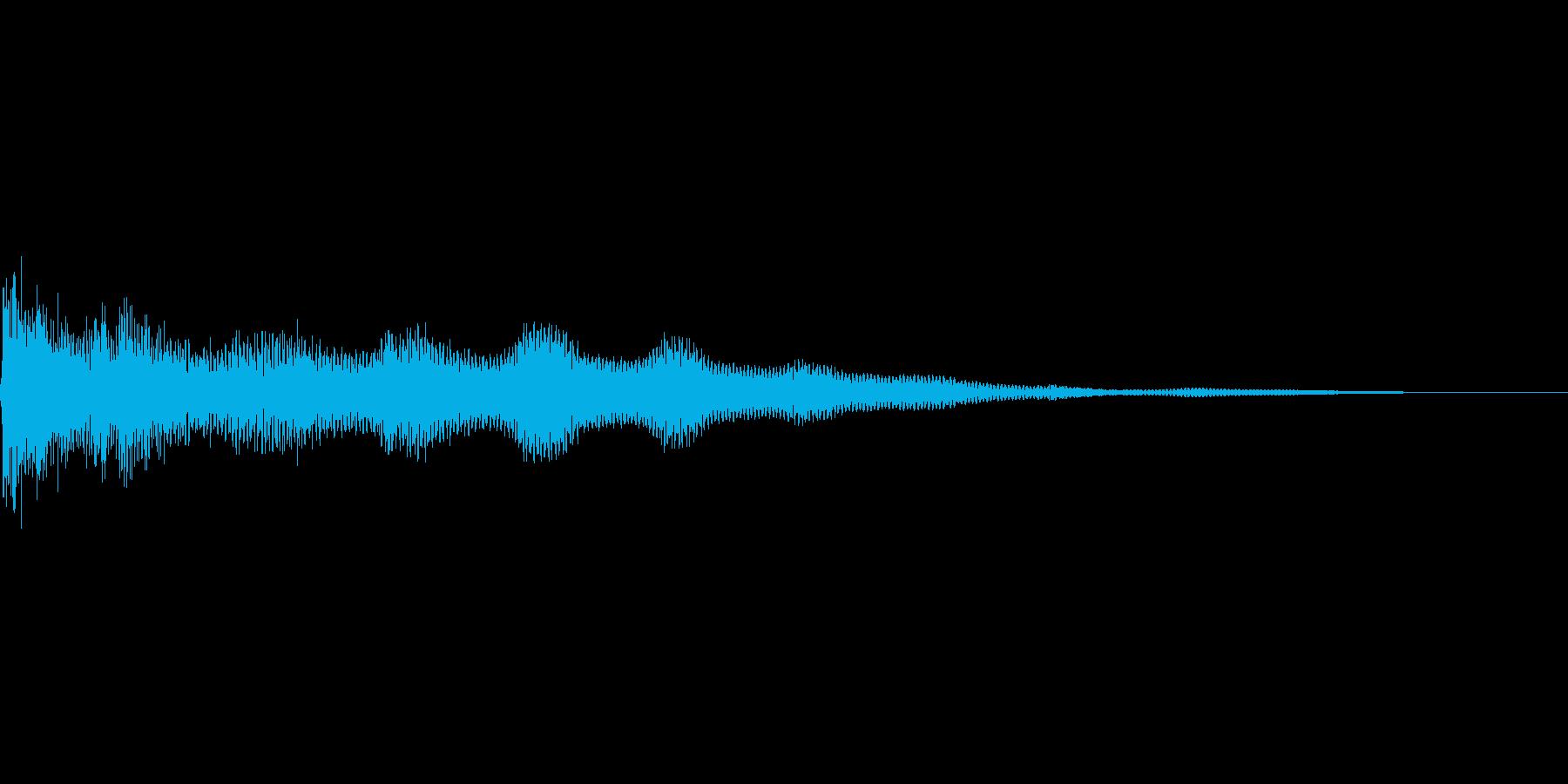 失敗した時の音。エレキギター。の再生済みの波形