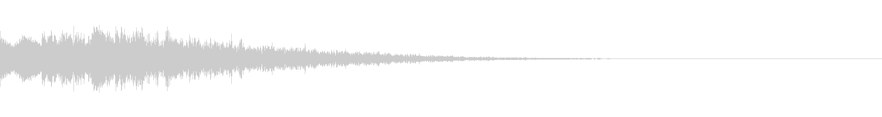 キューン:サイレンの様な音・場面転換cの未再生の波形