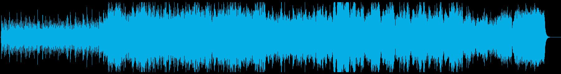 力強く壮大なストリングスの再生済みの波形