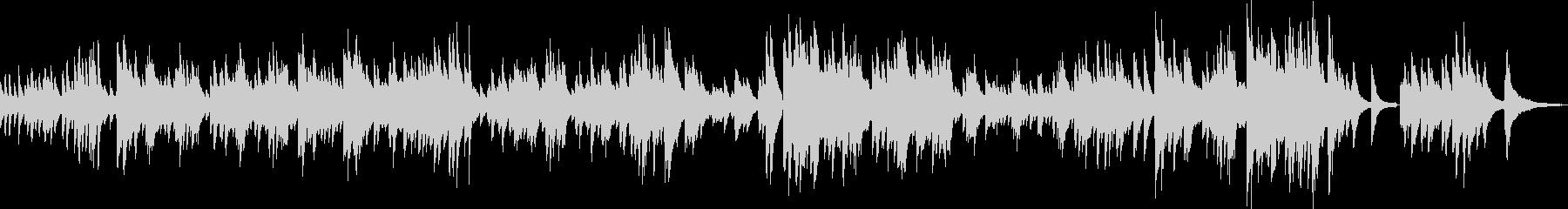 希望に満ち溢れたピアノ曲(独奏)の未再生の波形