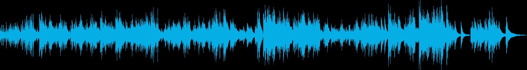 希望に満ち溢れたピアノ曲(独奏)の再生済みの波形