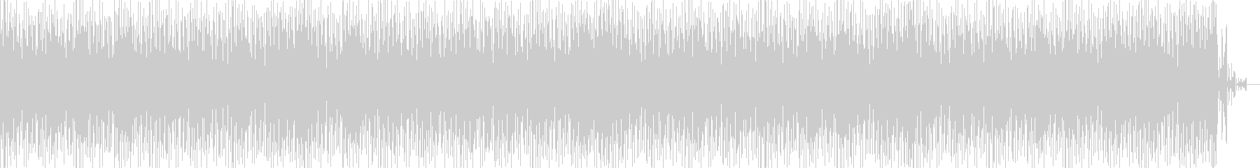 無機質なハウス ニュース原稿読みBGMにの未再生の波形