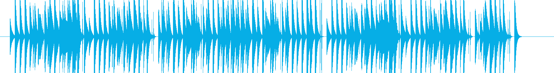 小動物っぽさのあるかわいいマリンバソロの再生済みの波形
