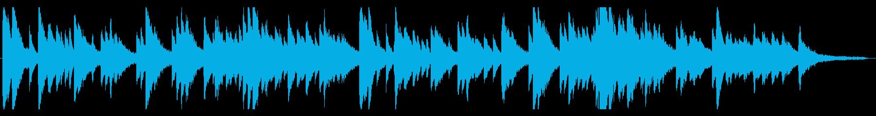 優しい旋律が特徴的なピアノ曲の再生済みの波形