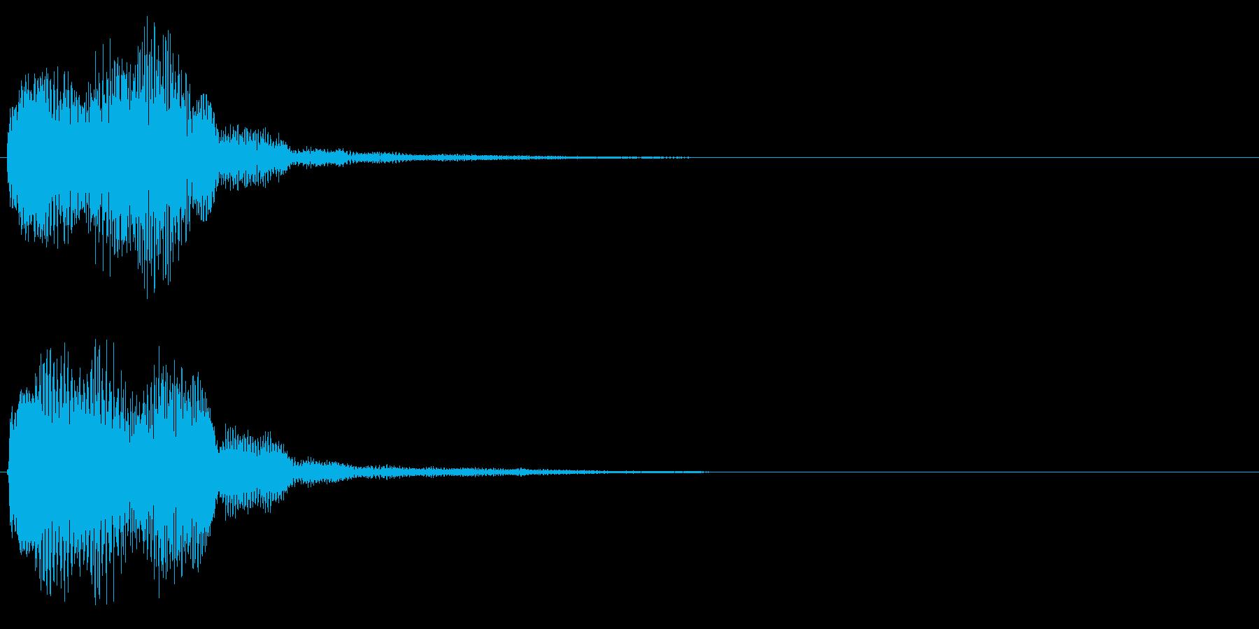 キラリン音A6 2音色×8フレーズの再生済みの波形