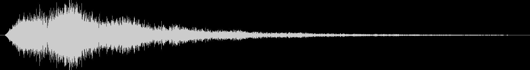 ワープ音(シュワシュワシュワシュワ)の未再生の波形