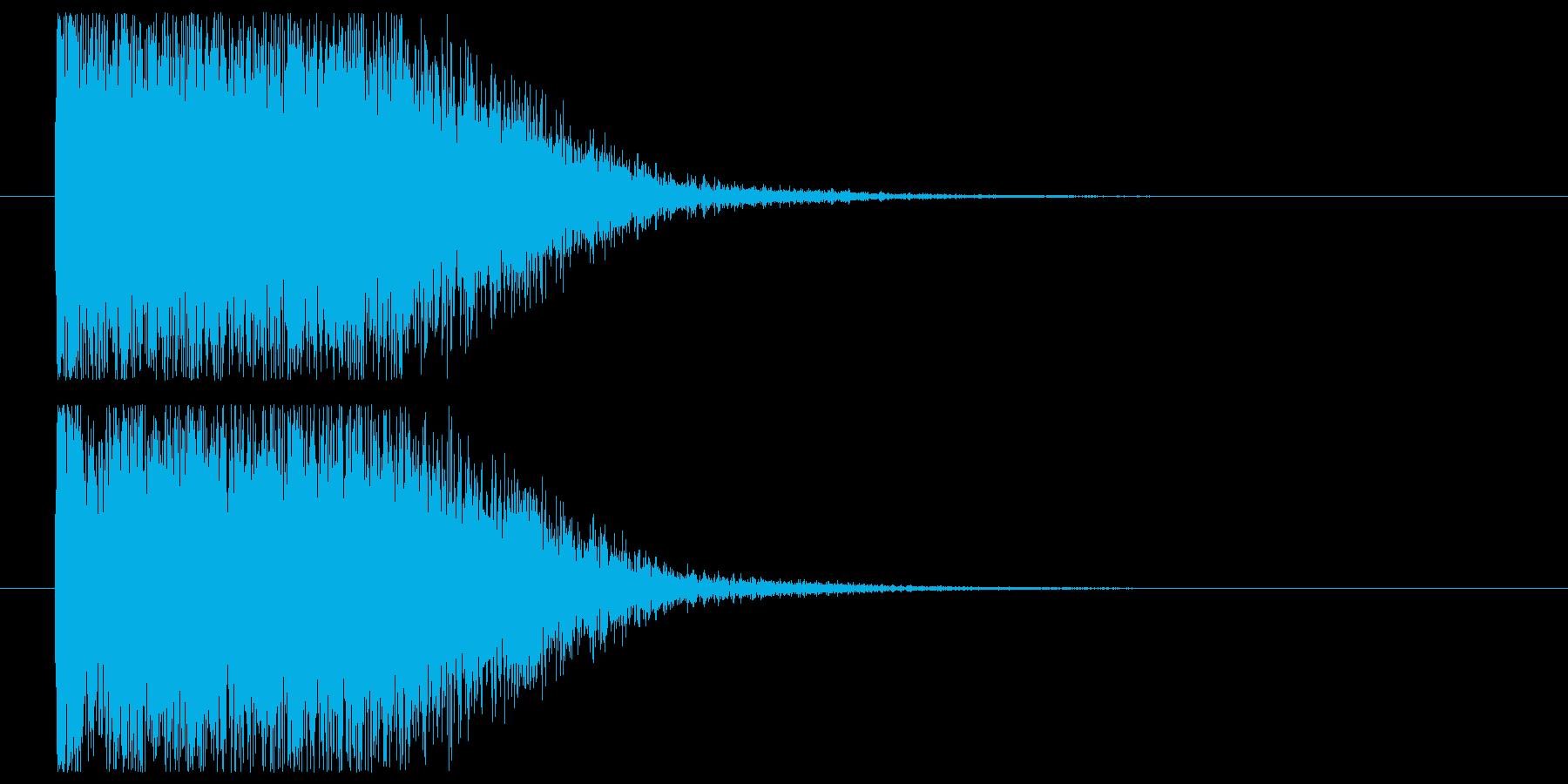 強力な魔法の発射の再生済みの波形