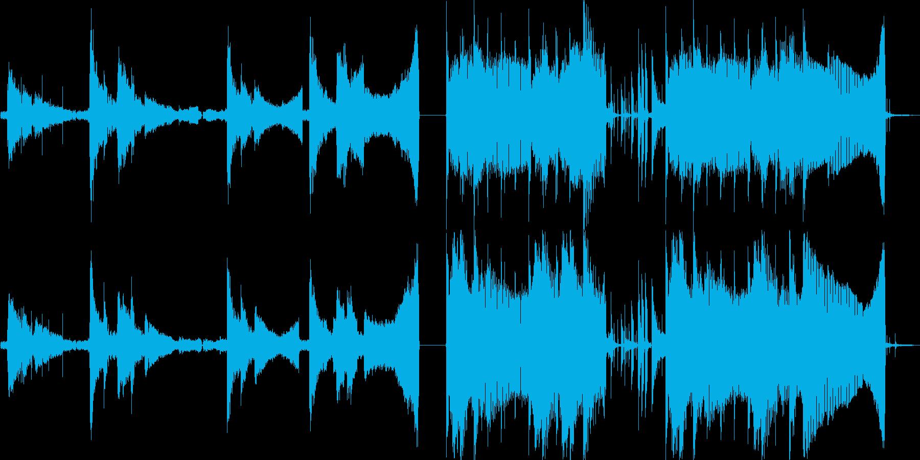 ノイズが印象的なジングルの再生済みの波形