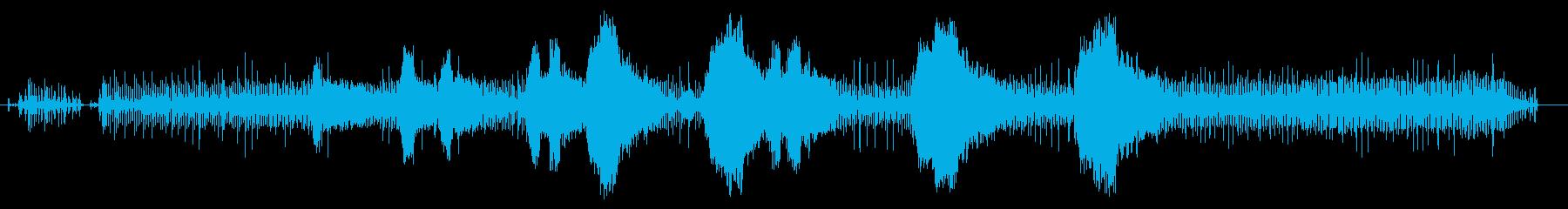 ストリングトリマー-開始、回転、お...の再生済みの波形