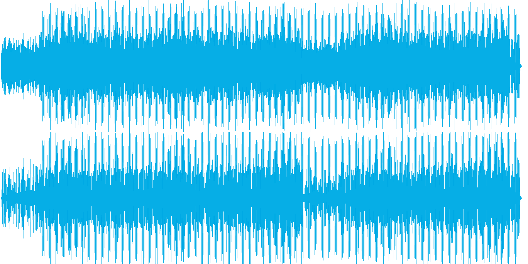 細かな音が続く繊細なシンセ曲の再生済みの波形