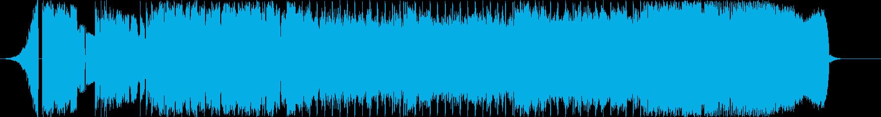ロックな出囃子の再生済みの波形