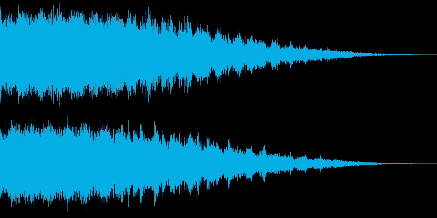 爆発音・落下音・ゲームオーバ音の再生済みの波形