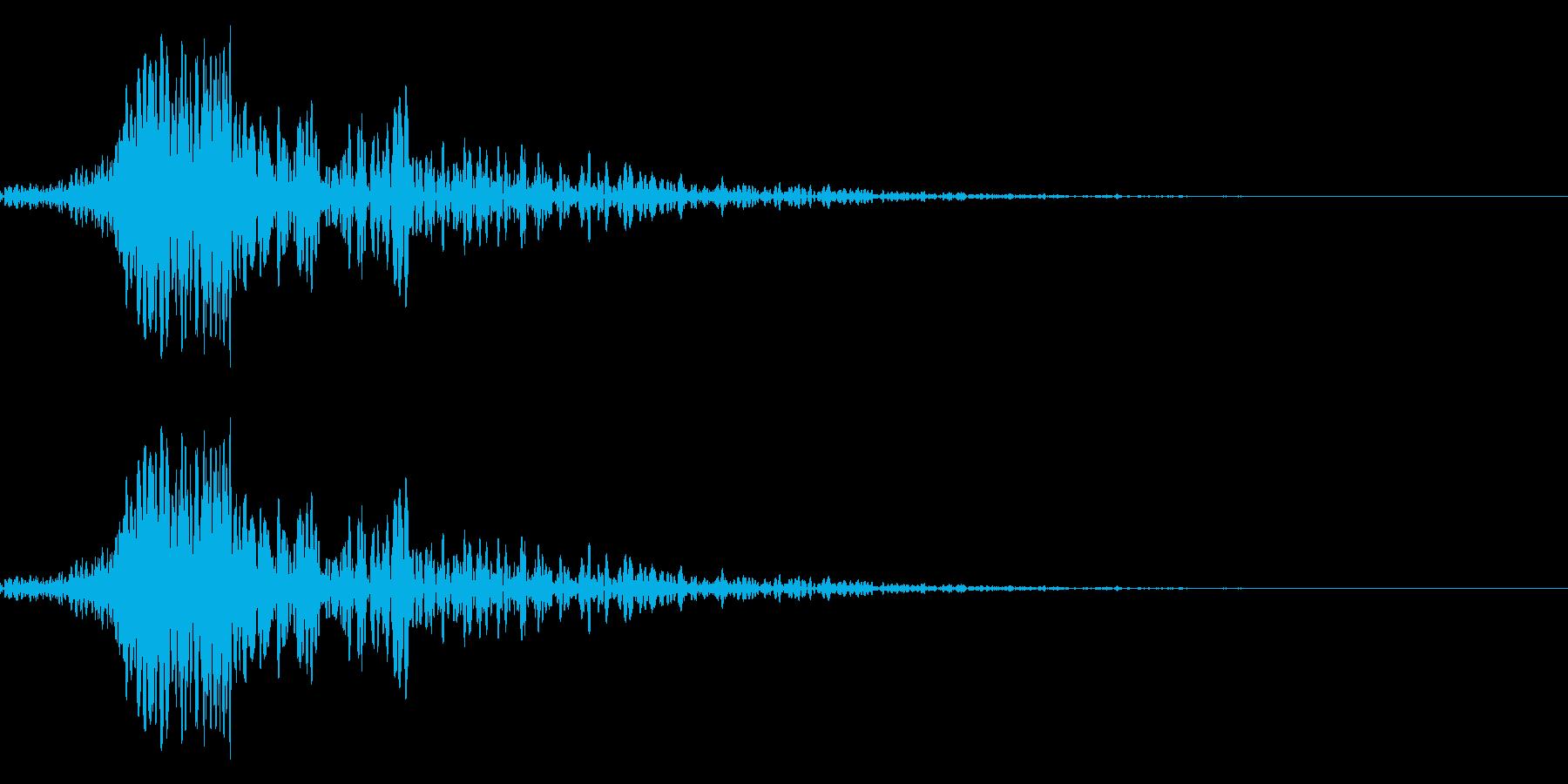 シューティングゲームの雑魚キャラが爆発…の再生済みの波形