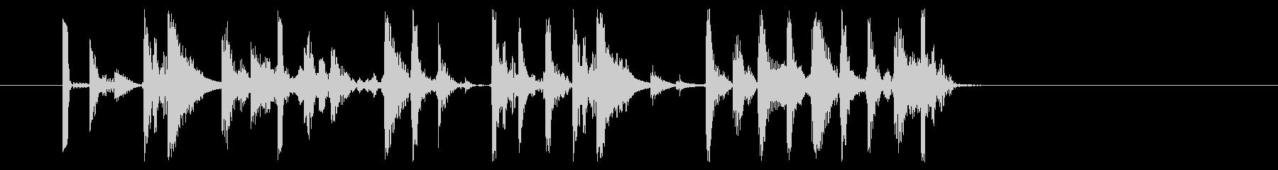 ポップなドラムのサウンドロゴ、ジングルの未再生の波形