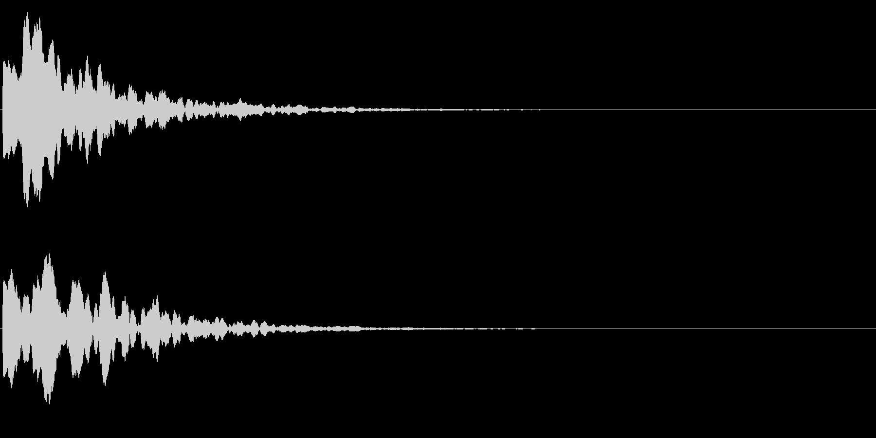 ゲームスタート、決定、ボタン音-145の未再生の波形