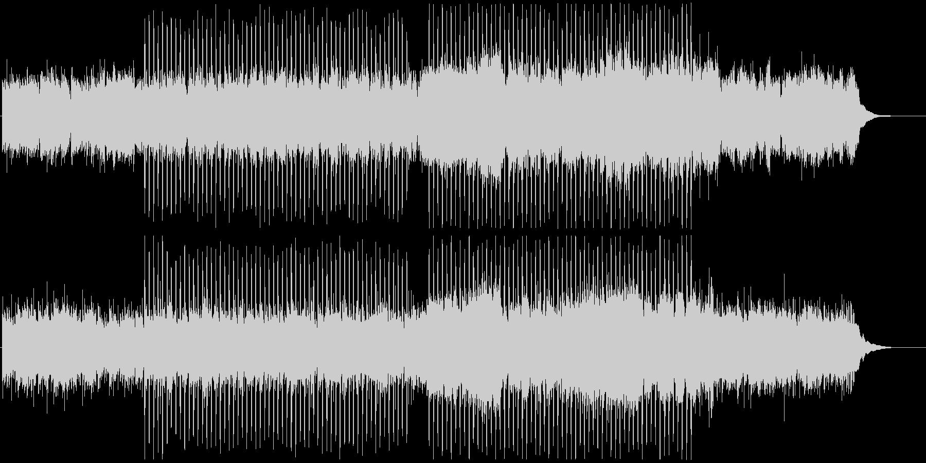 OP映像に、静かで爽やかな4つ打ちギターの未再生の波形