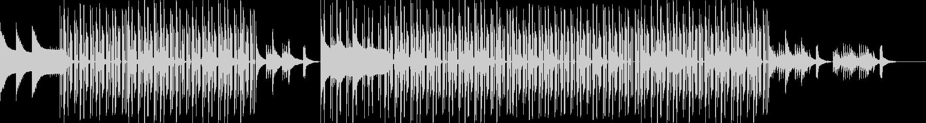 心地よいビートとピアノのチルヒップホップの未再生の波形