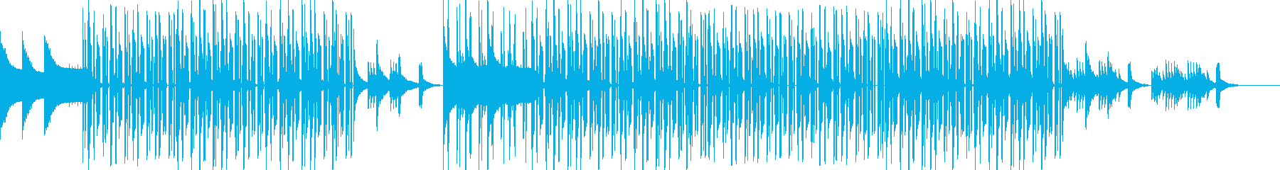 心地よいビートとピアノのチルヒップホップの再生済みの波形