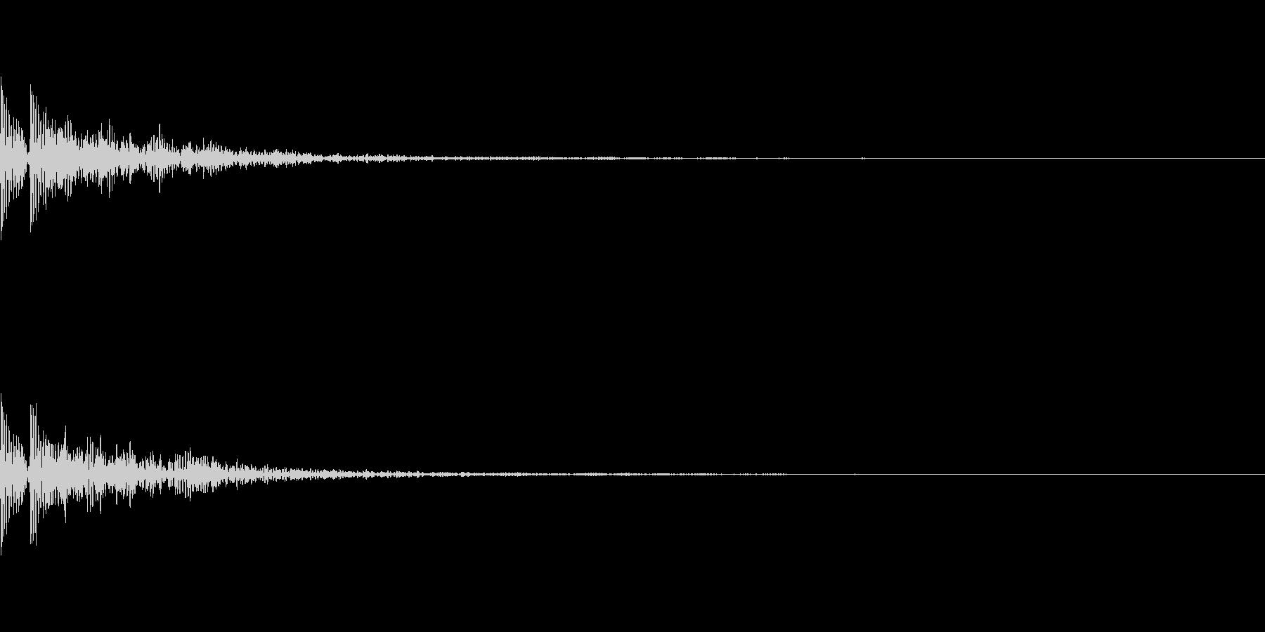 大太鼓の和風インパクト「ドドン!」の未再生の波形