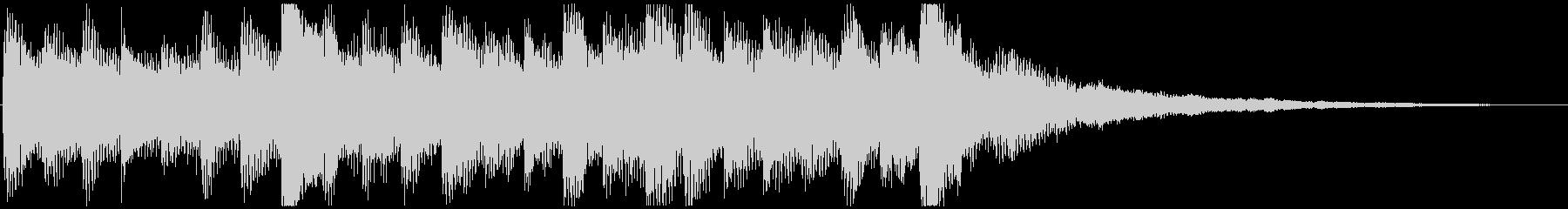 ワクワクな ピアノ&サウンドエフェクトの未再生の波形