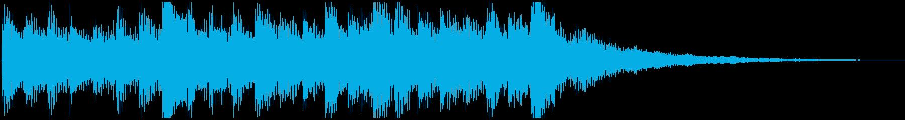 ワクワクな ピアノ&サウンドエフェクトの再生済みの波形