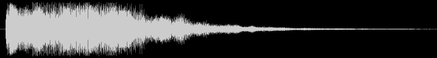 決定音やニュースに使える音の未再生の波形