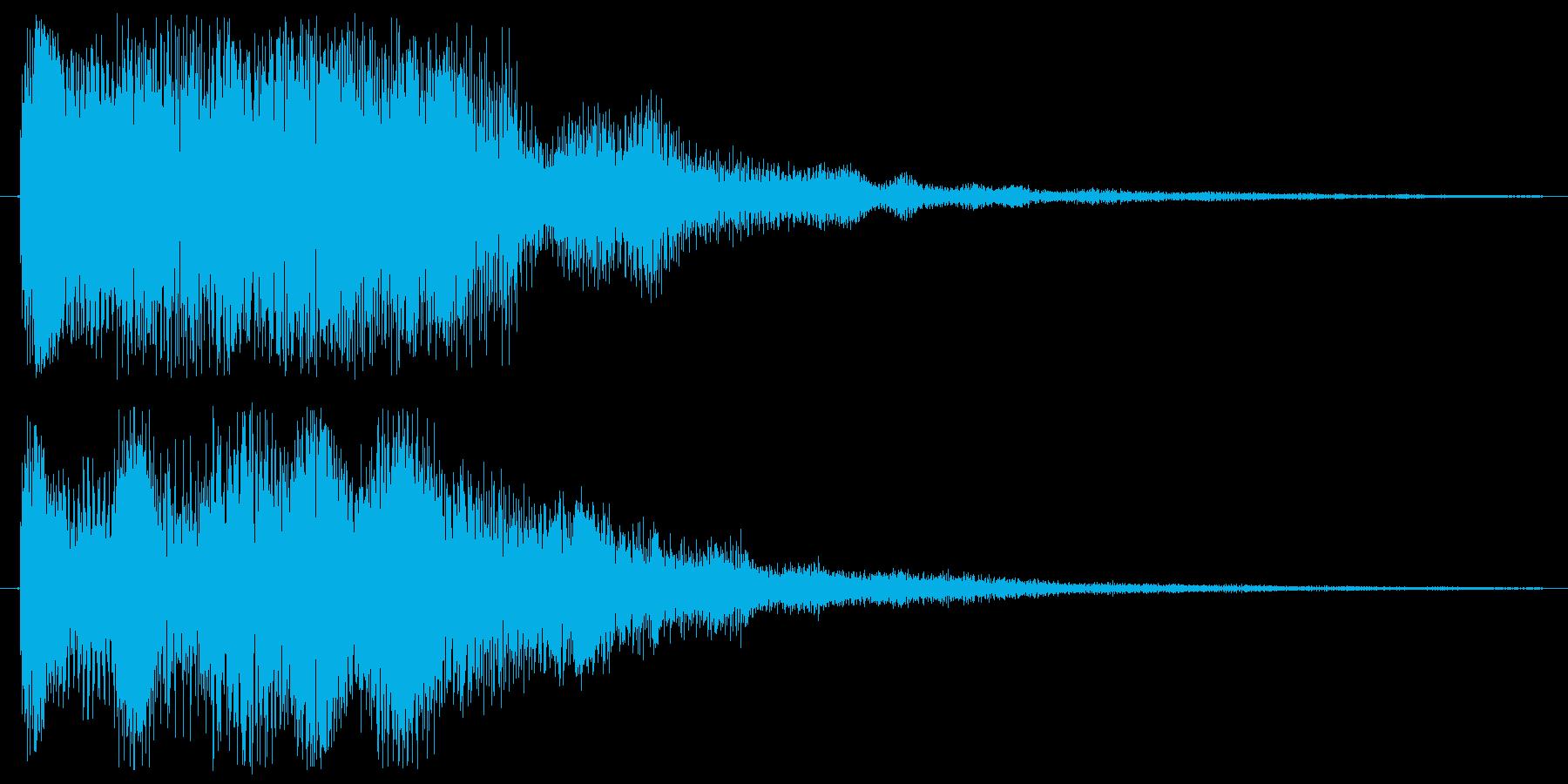 決定音やニュースに使える音の再生済みの波形