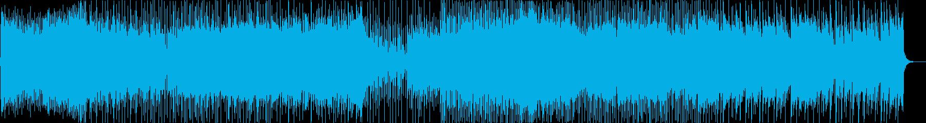 クールで近未来的EDM 和風ダブステップの再生済みの波形