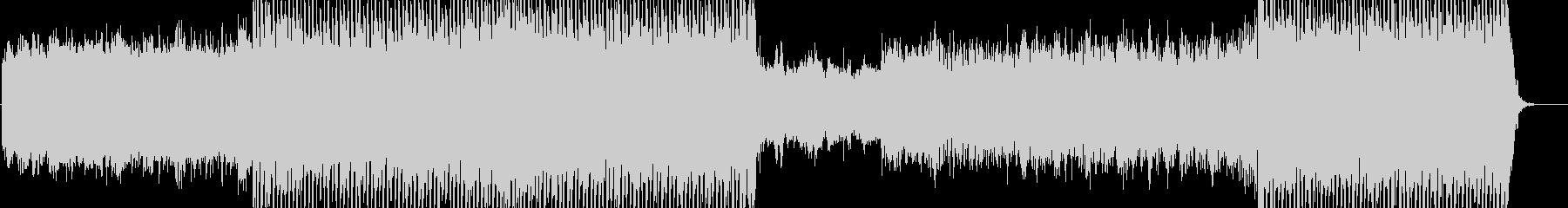 近未来的なエレクトロニカインスト曲の未再生の波形