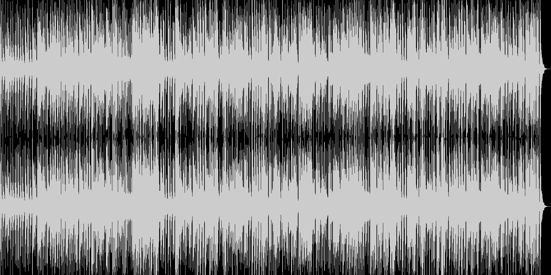 晩秋の雰囲気、ピアノジャズトリオの未再生の波形
