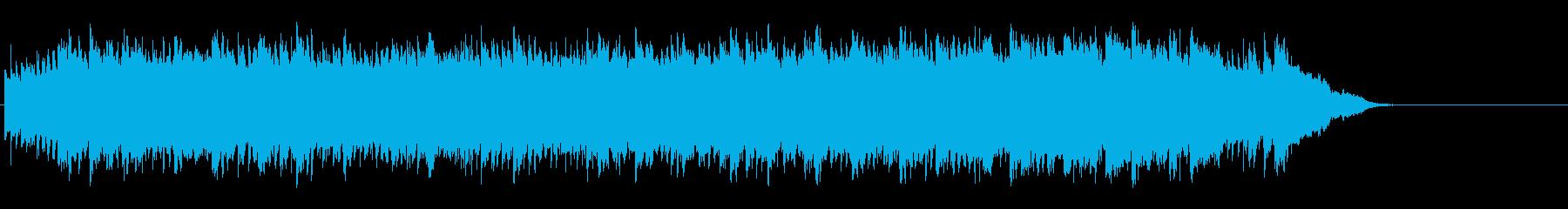 小川のせせらぎの清涼感の環境/BGの再生済みの波形