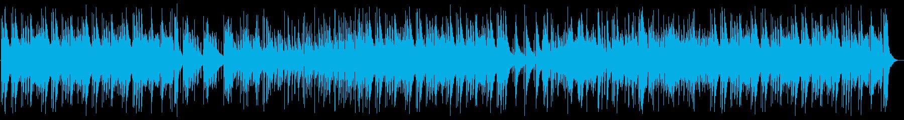 アップテンポの明るいピアノの曲の再生済みの波形
