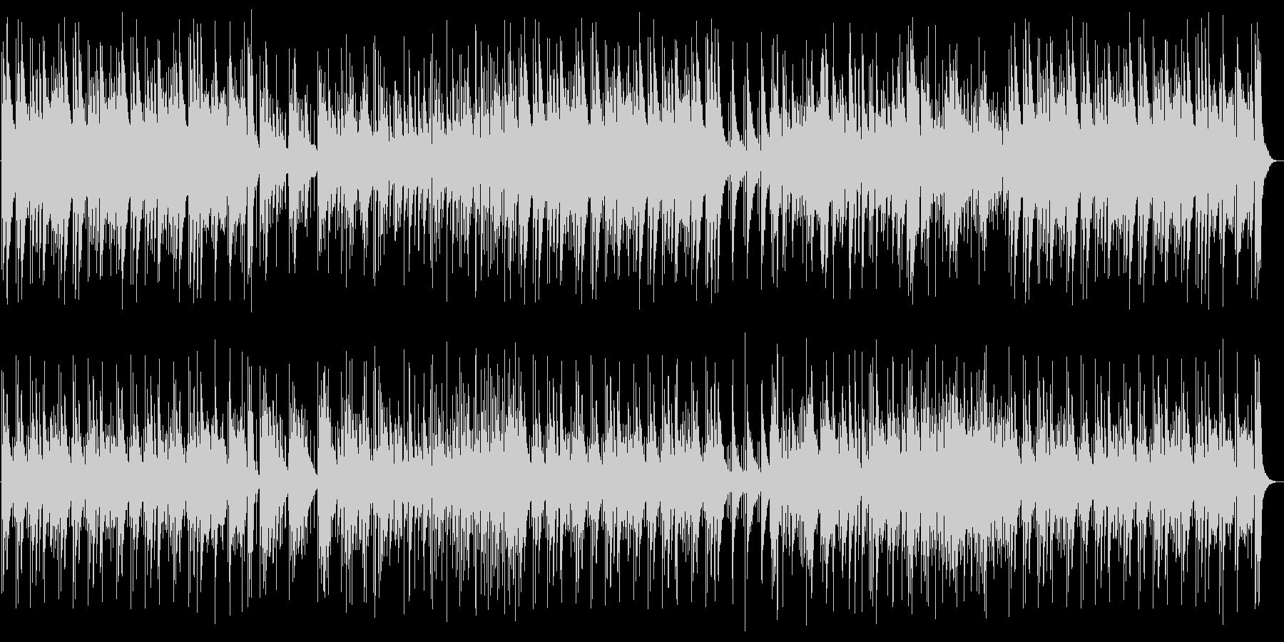 アップテンポの明るいピアノの曲の未再生の波形