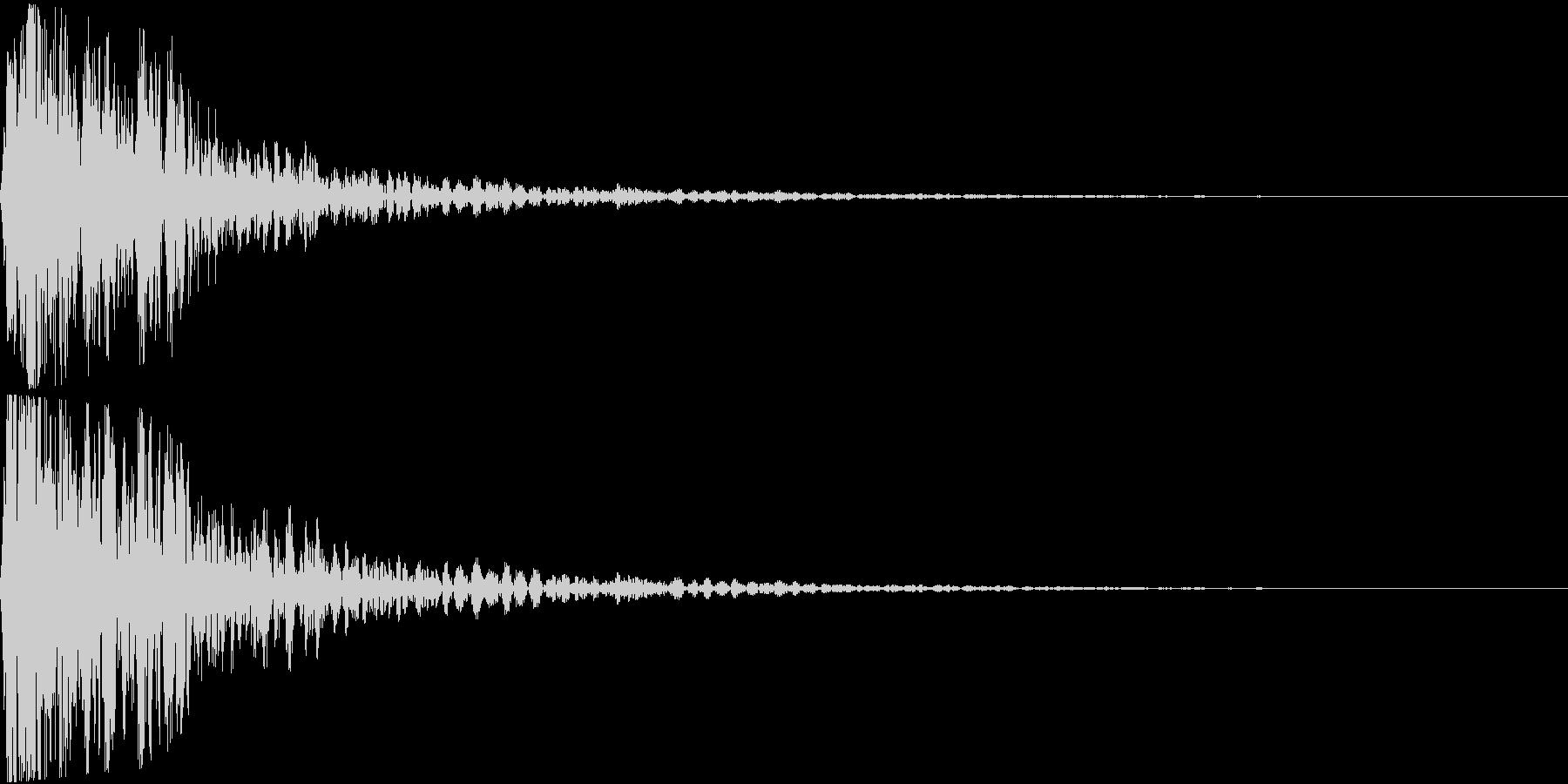 【大迫力】大砲を撃つ音1 ズドーン!の未再生の波形
