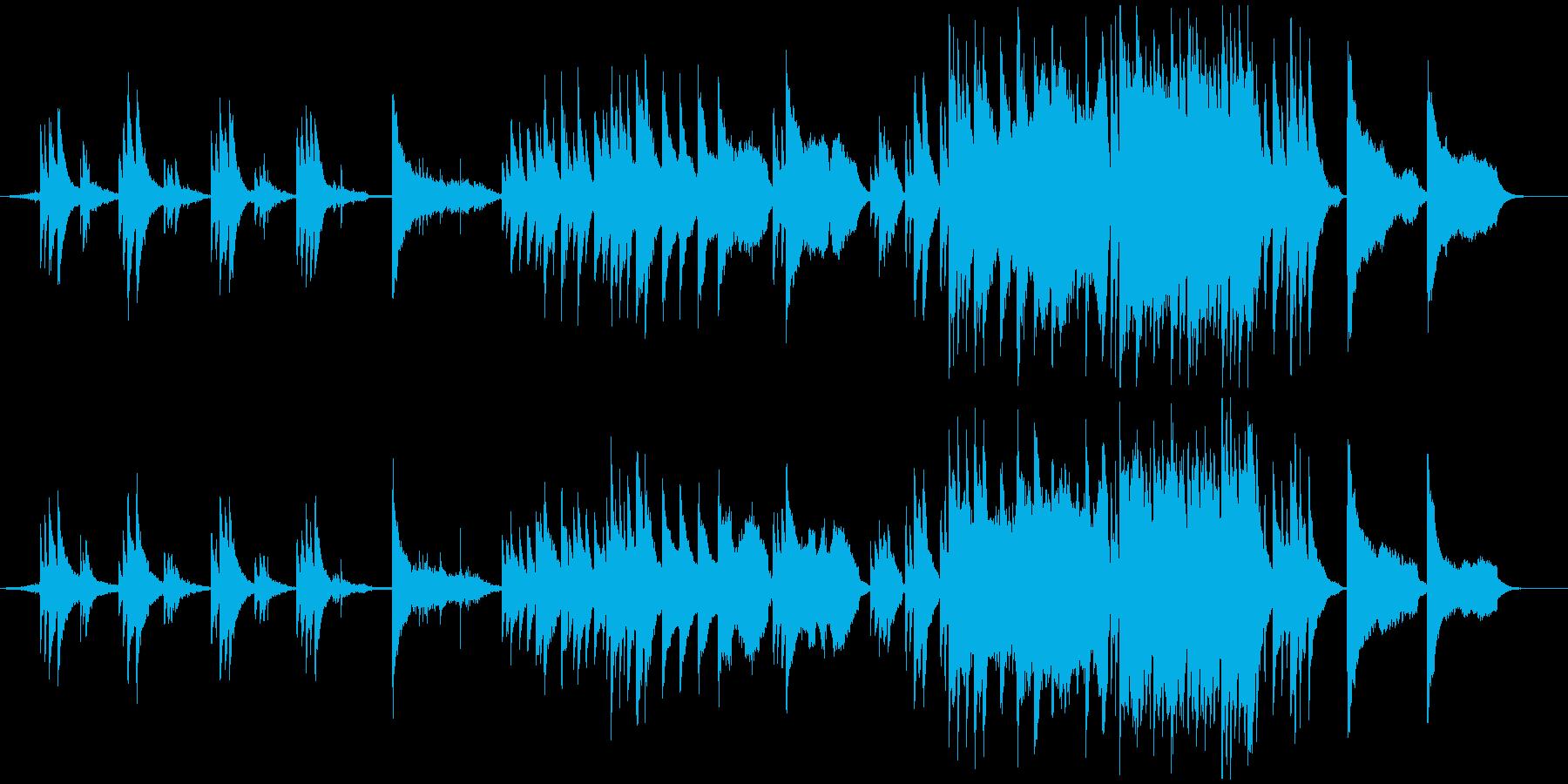 """""""静謐""""ストーリーの見えるピアノBGM の再生済みの波形"""