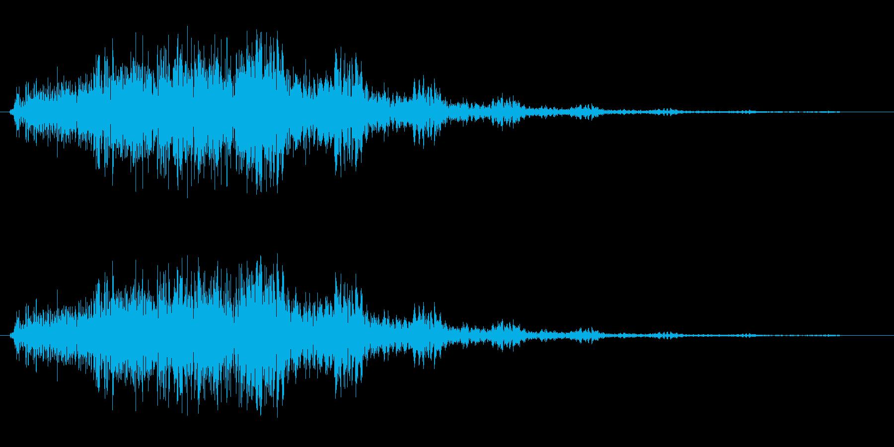 シャララ系(アップ)の再生済みの波形