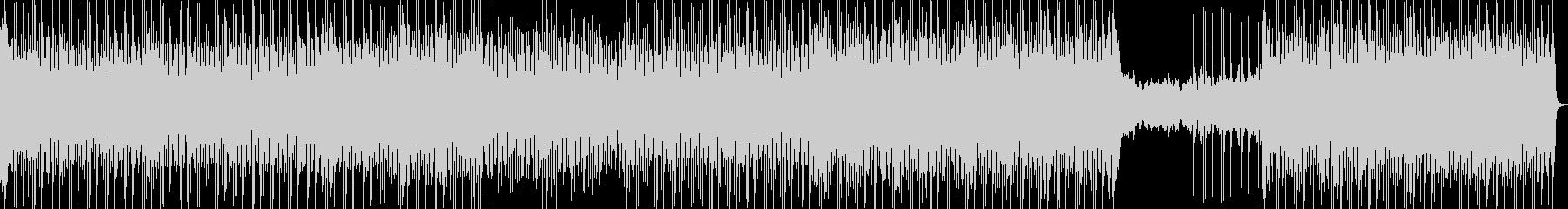 アップテンポなダンスハウスミュージックの未再生の波形