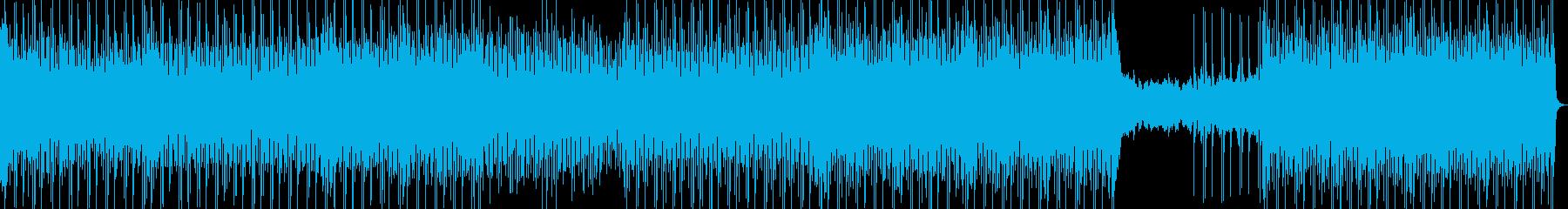 アップテンポなダンスハウスミュージックの再生済みの波形