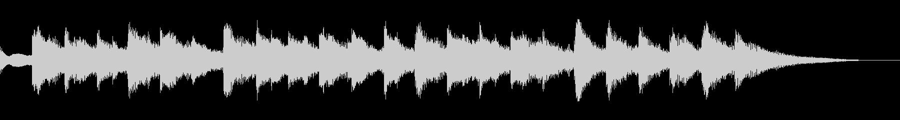 クリスマス曲(15秒)オルゴールの未再生の波形