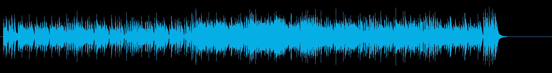デジタル色の濃いエレクトリック・ポップの再生済みの波形