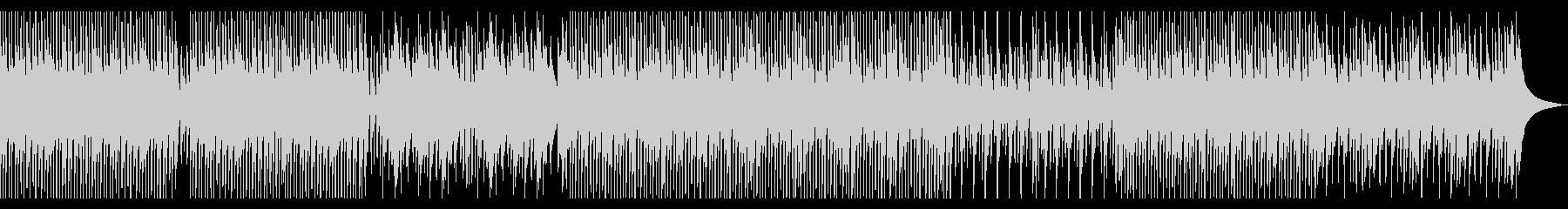 明るく軽快で柔らかいウクレレ中心の曲の未再生の波形