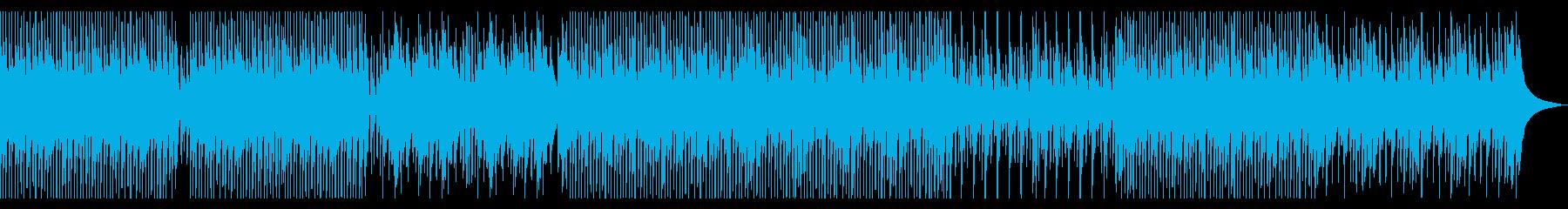 明るく軽快で柔らかいウクレレ中心の曲の再生済みの波形