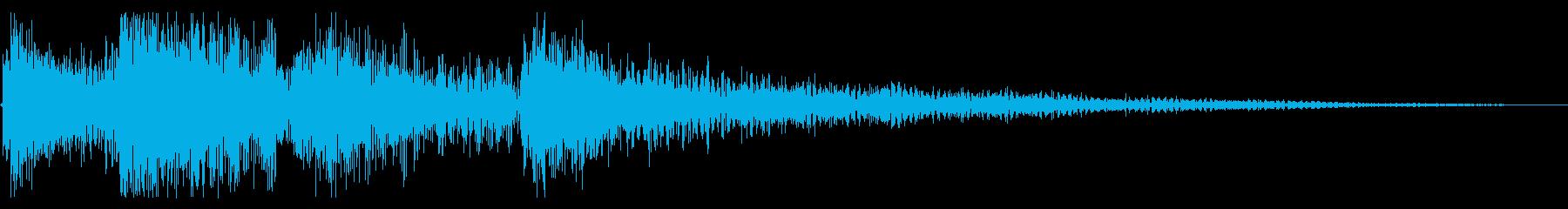 エンド グリッサンド トイピアノの再生済みの波形