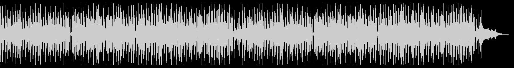 YouTubeに 弾むような可愛いBGMの未再生の波形