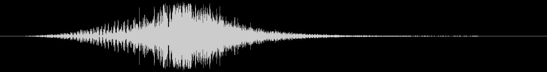 ホイッピングアーチヒューシュの未再生の波形
