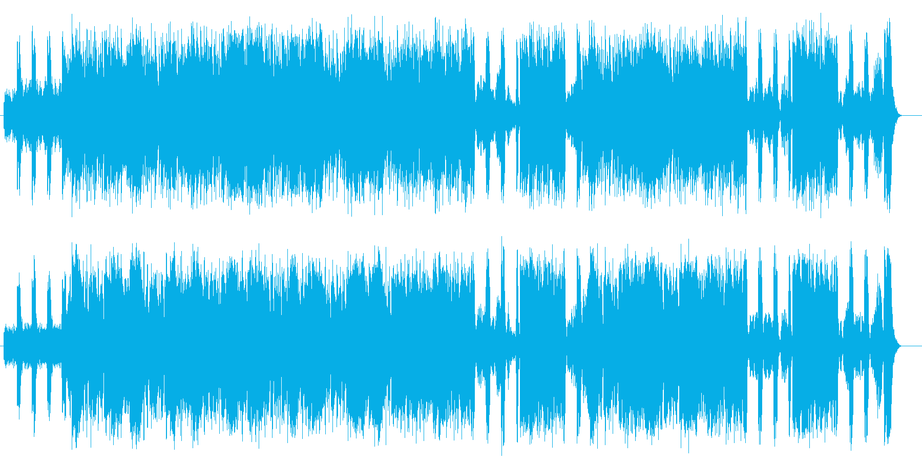 スローなロック調のギターとオーケストラの再生済みの波形