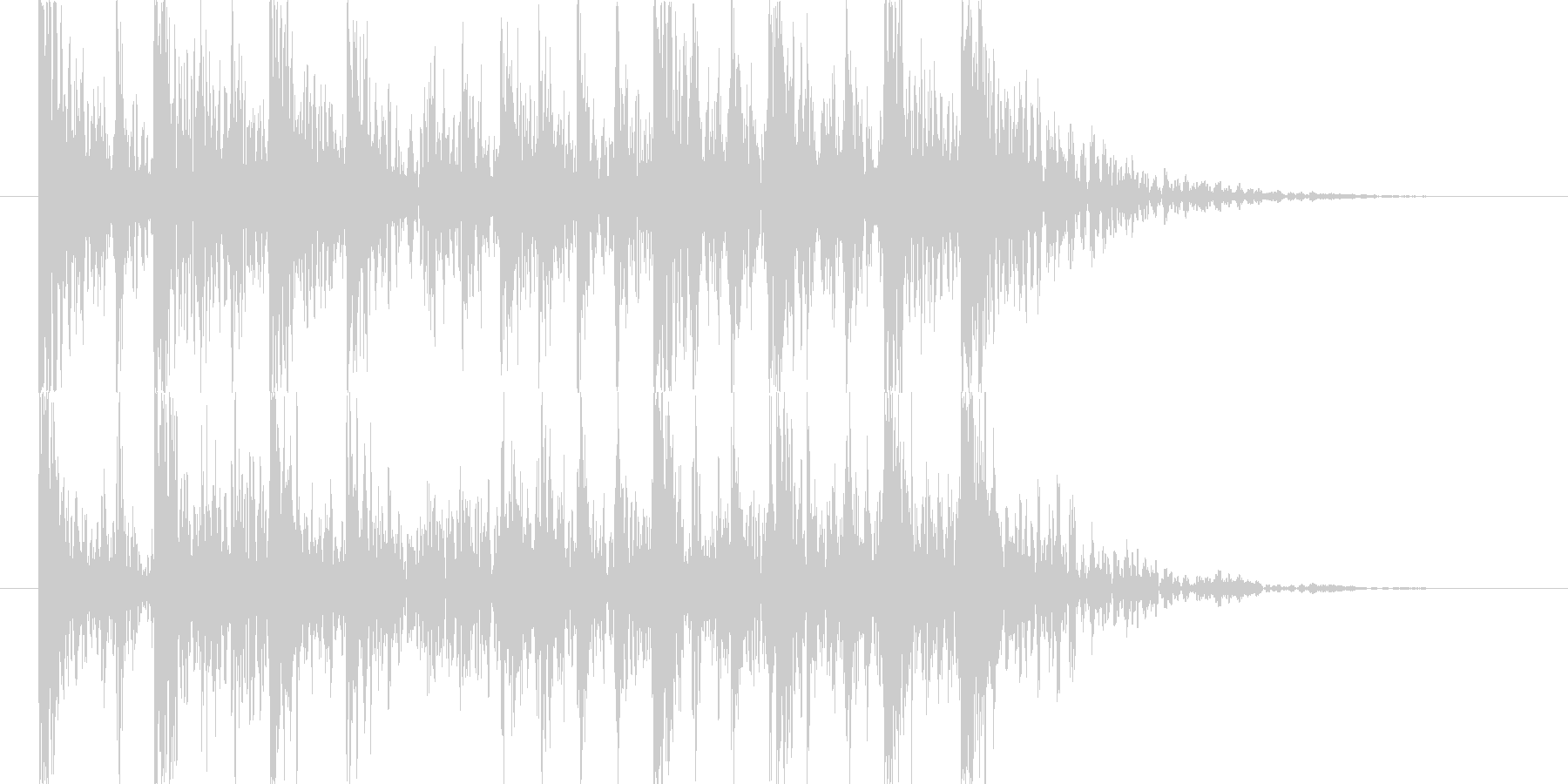 強烈なインパクトのパーカッシブロゴの未再生の波形