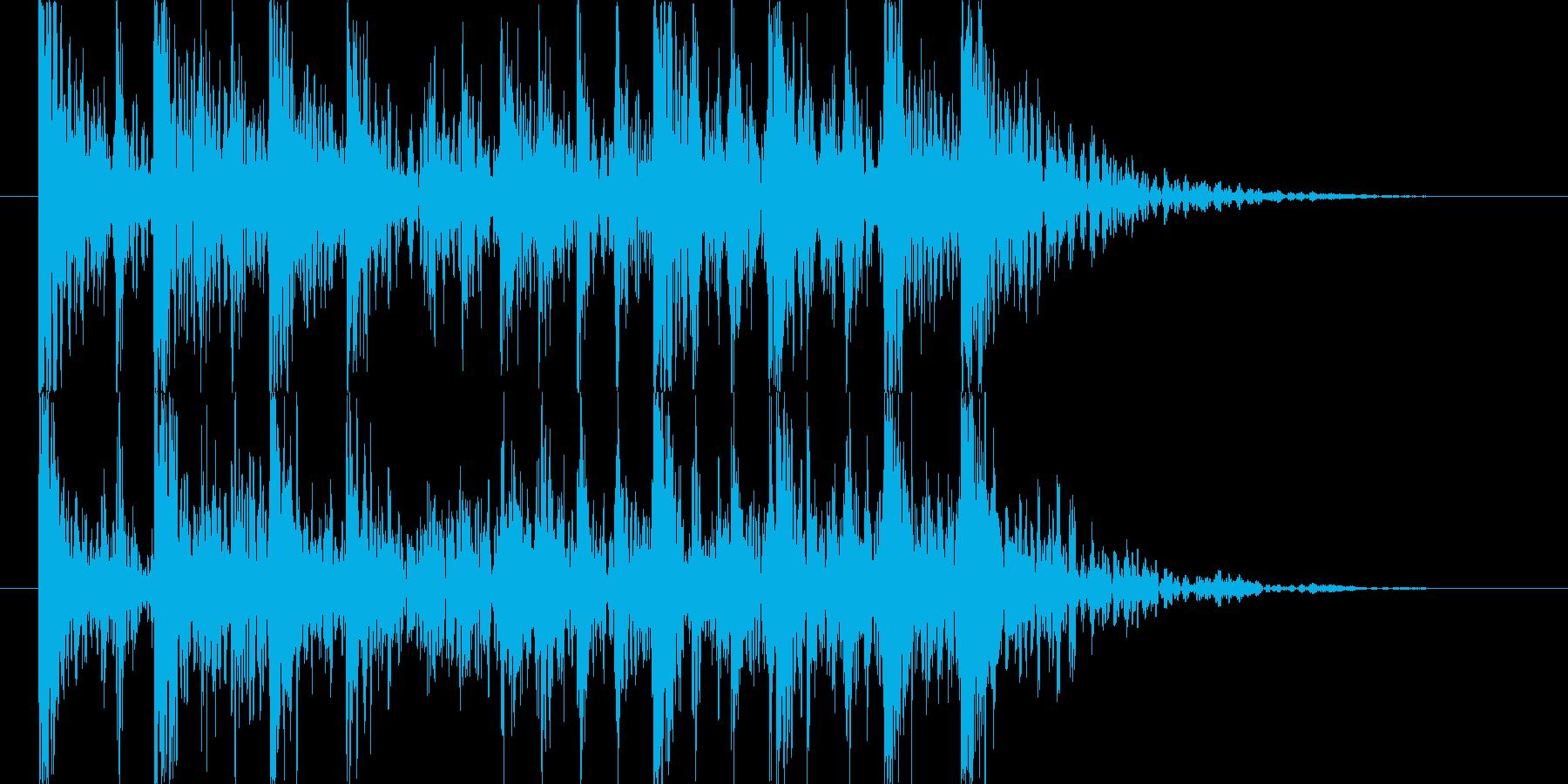強烈なインパクトのパーカッシブロゴの再生済みの波形